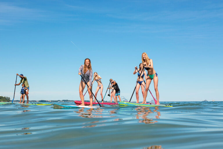 SUP Sierksdorf Fehmarn Poggensee Teamausflug Stand Up Paddel SUP & Surf Schule