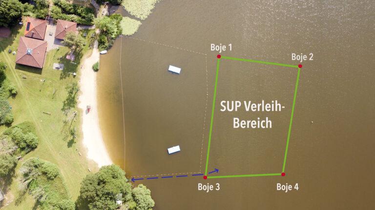 SUP Poggensee Bad Oldesloe Verleih Kurse Mieten Stand Up Paddeling SUP Verleihbereich