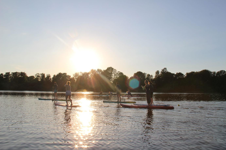 Stand Up Paddle Poggensee Bad Oldesloe Verleih Kurse Mieten Stand Up Paddeling Sundownder Tour mieten Preise